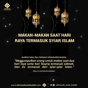 Makan makan saat hari raya termasuk syiar islam